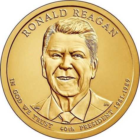 Dollar 2016 D USA UNC Ronald Reagan 40th