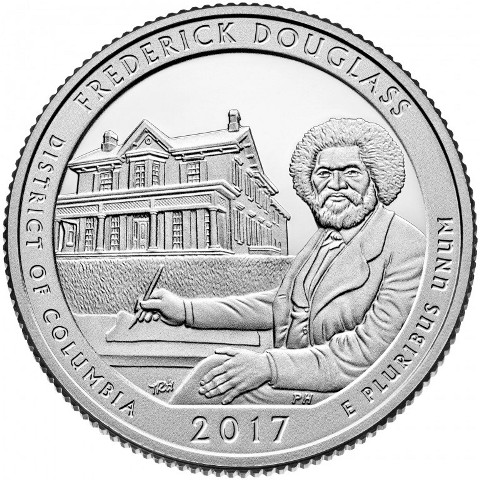 Quarter Dollar 2017 S USA UNC Frederick Douglass