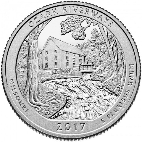 Quarter Dollar 2017 P USA UNC Ozark