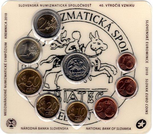 7e551102bad92 EURO mince | SADA 2010 Slovensko BU Numizmatická spoločnosť ...