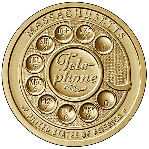 Dollar 2020 D USA UNC telephone