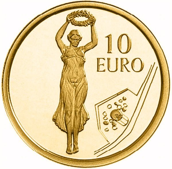 10 euro 2013 Luxembursko PROOF Golden Lady