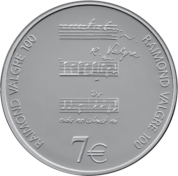 7 euro 2013 Estónsko PROOF