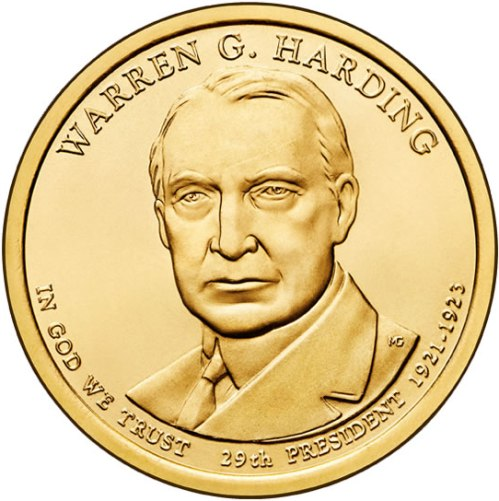 Dollar 2014 D USA UNC Warren G. Harding 29th