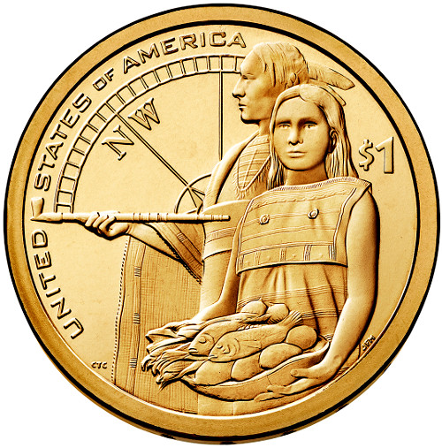 Dollar 2014 P USA Native American