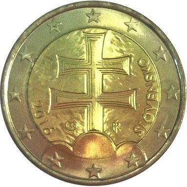 70f0fbd09 2 euro 2016 Slovensko ob.UNC