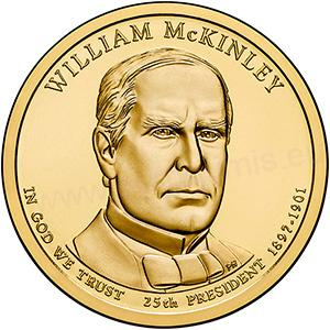 Dollar 2013 D USA UNC W.McKinley 25th