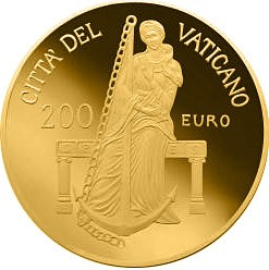 200 euro 2013 Vatikán PROOF Hope