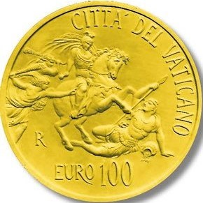 100 euro 2011 Vatikán PROOF The Room of Heliodorus