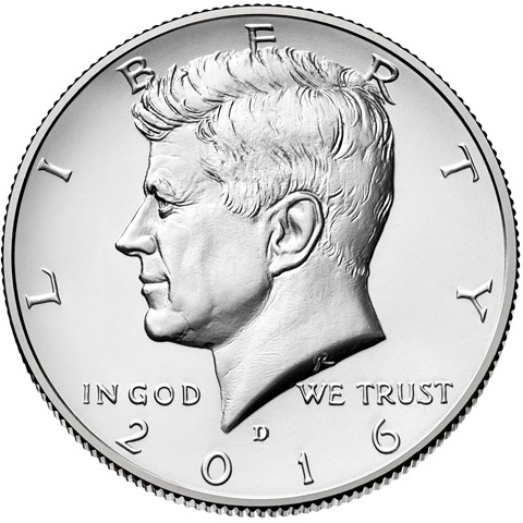 Half Dollar 2016 D USA John F. Kennedy