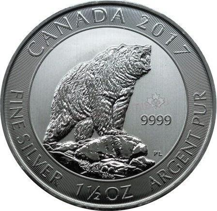 8 Dollars 2017 Kanada BU Grizzly