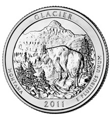 1/4 Dollar 2011 P USA Glacier