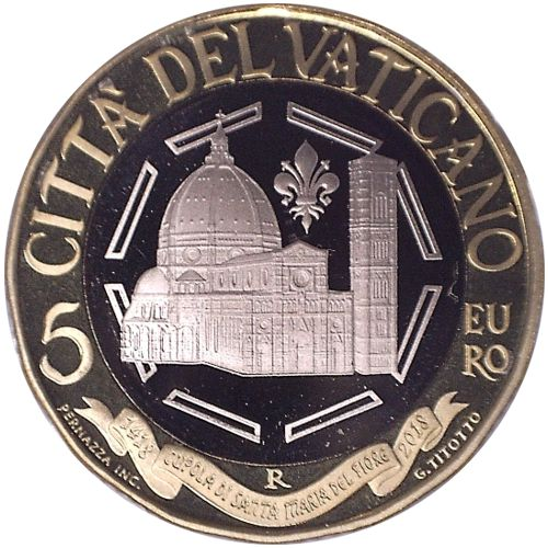 5 euro 2018 Vatikán PROOF Dome of Santa Maria