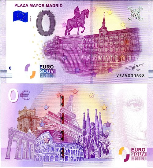 0 Euro Souvenir 2018/1 PLAZA MAYOR MADRID