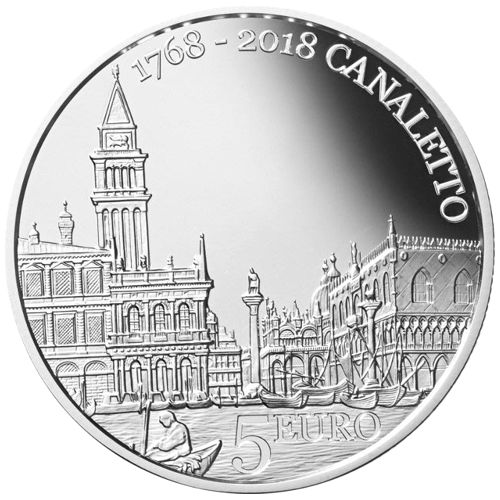 5 euro 2018 San Maríno PROOF Canaletto