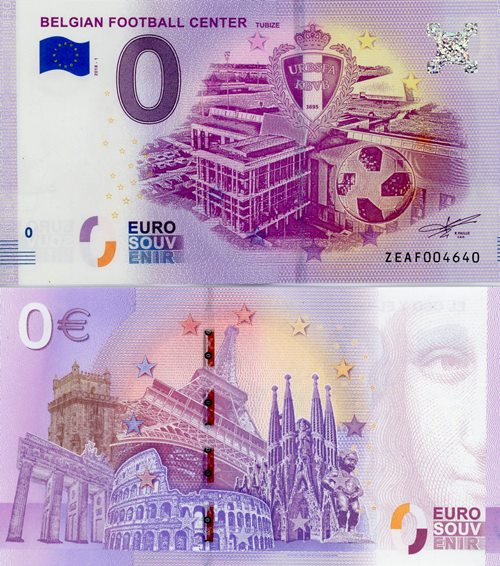 0 euro Souvenir 2018/1 UNC BELGIAN FOOTBALL CENTER