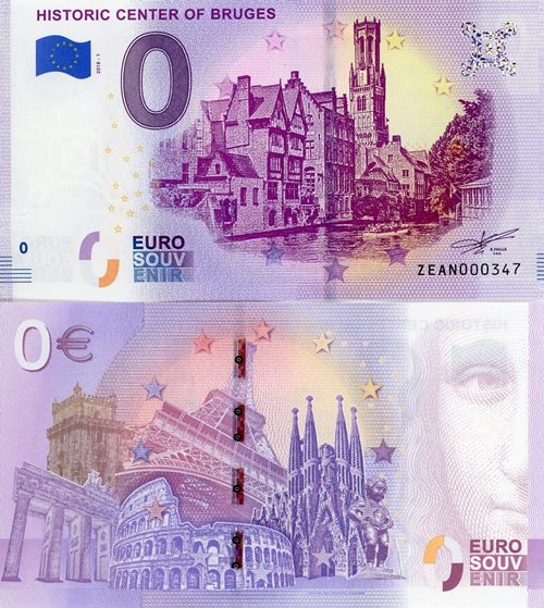 0 Euro Souvenir 2018/1 UNC HISTORIC CENTER OF BRUGES