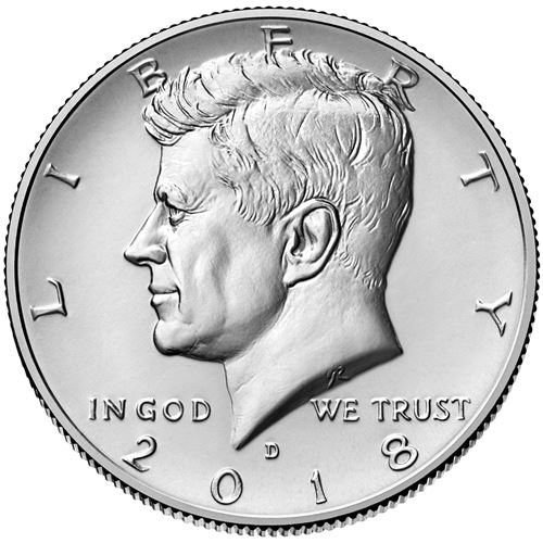 Half Dollar 2018 D USA John F. Kennedy
