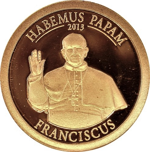 1 Dollar 2013 Cookove Ostrovy PROOF Franciscus