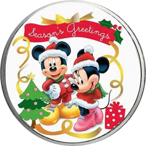 Medaila Mickey Mouse - Merry Christmas