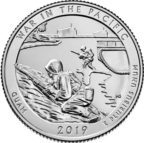Quarter Dollar 2019 S USA UNC War in the Pacific