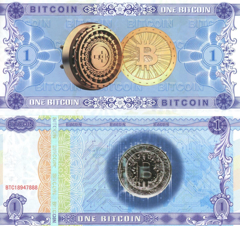 1 BITCOIN (suvenírová bankovka)