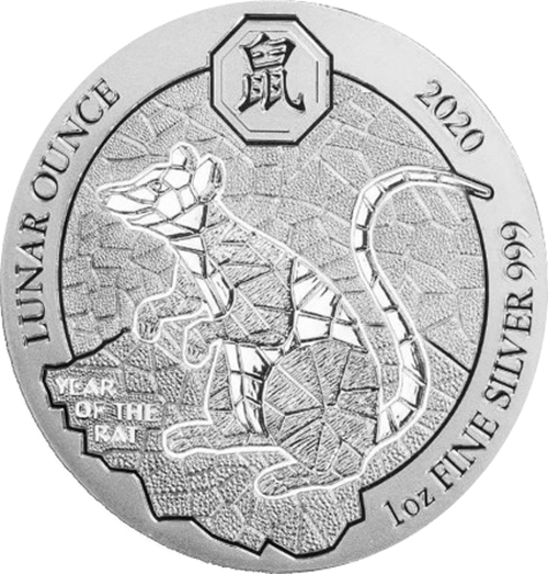 50 Francs 2020 Rwanda BU Year of the Rat