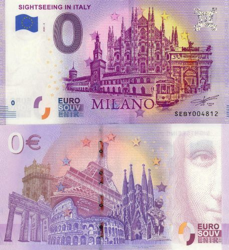 0 euro Souvenir 2020/3 UNC SIGHTSEEING IN ITALY