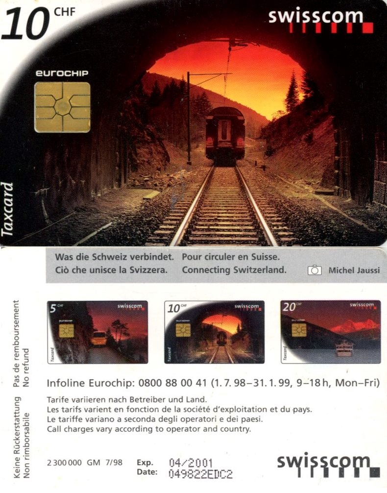 Tel.Karta, 1998, Švajčiarsko, swisscom, Connecting Switzerland 10 CHF (7/98)