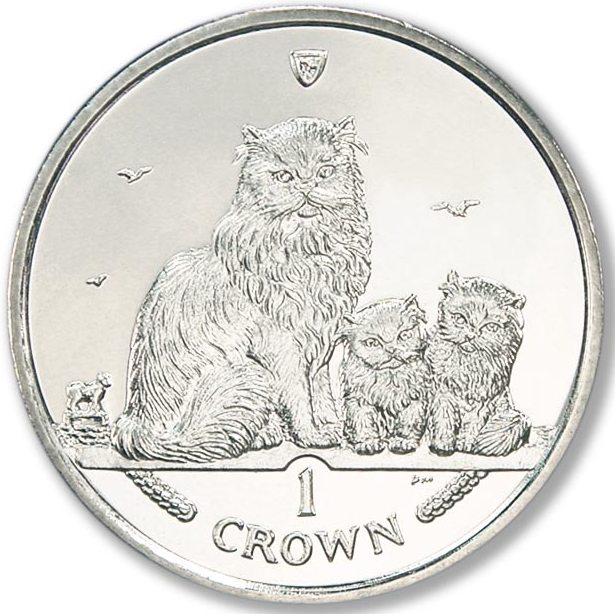 1 Crown 2005 Isle of Man UNC CuNi