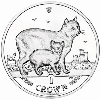 1 Crown 2012 Isle of Man UNC CuNi