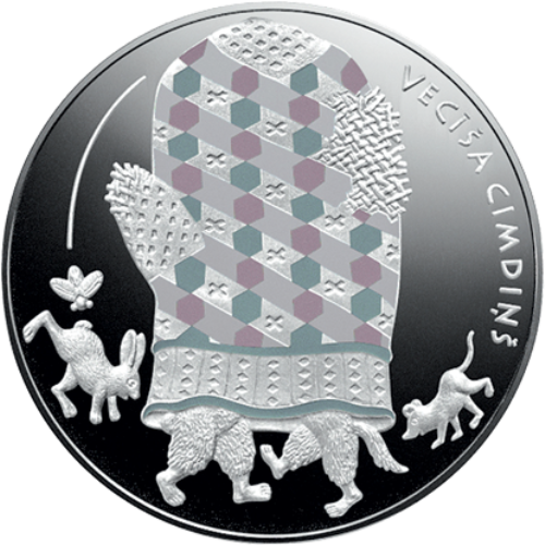 5 euro 2017 Lotyšsko PROOF The old man´s mitten