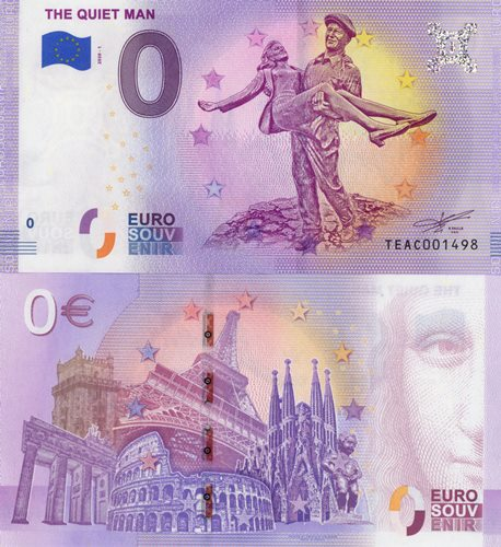 0 euro souvenir 2020/1 UNC THE QUIET MAN