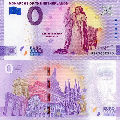 0 euro Souvenir 2020/8 UNC Monarchs of the Netherlands (nový dizajn)
