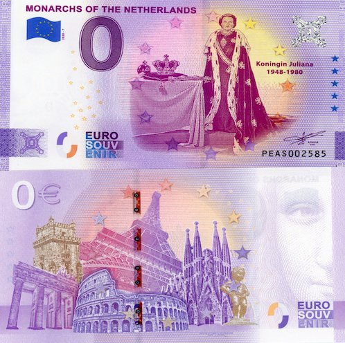 0 euro Souvenir 2020/7 Monarchs of the Netherlands (nový dizajn)