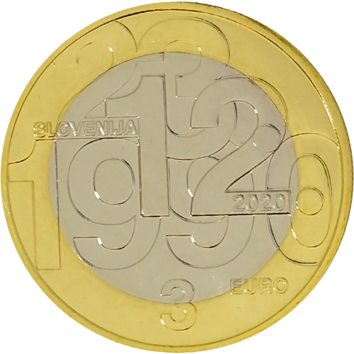3 euro 2020 Slovinsko cc.BU plebiscite on sovereignty