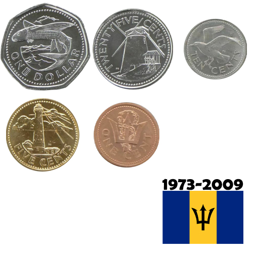 SET 1973 - 2009 Barbados UNC (1,41 Dollars)