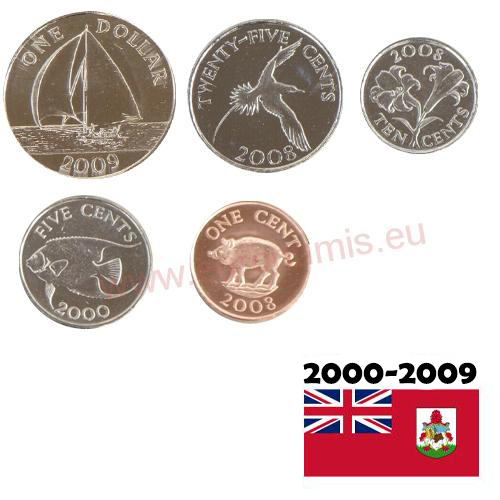 Set 2000 - 2009 Bermudy UNC (1,41Dollars)