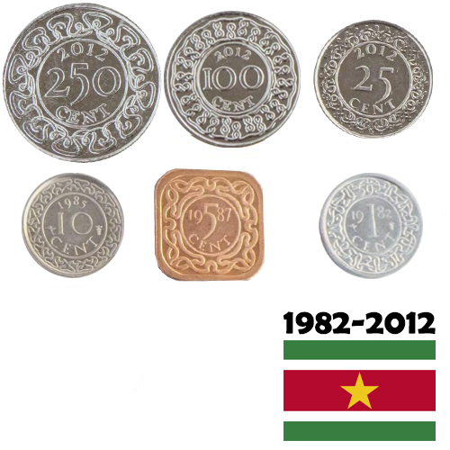SET 1982-2012 Surinam (391 Cents)