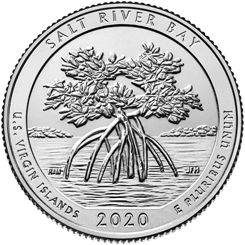 Quarter Dollar 2020 P USA UNC Salt River Bay
