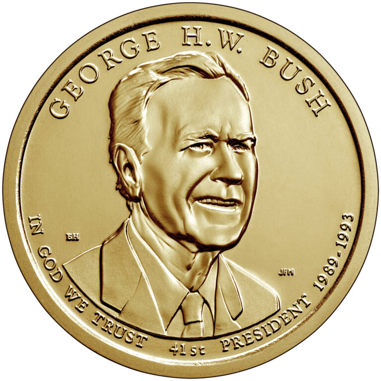 Dollar 2020 P USA UNC George HW Bush 41th