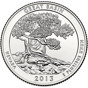 Quarter Dollar 2013 D USA UNC Great Basin