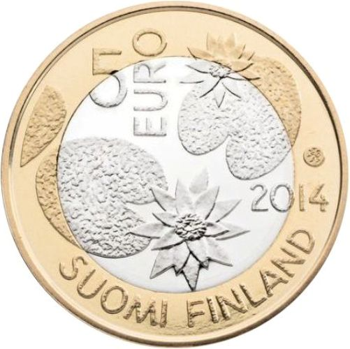 5 euro 2014 Fínsko UNC Nordic Nature - Wilderness