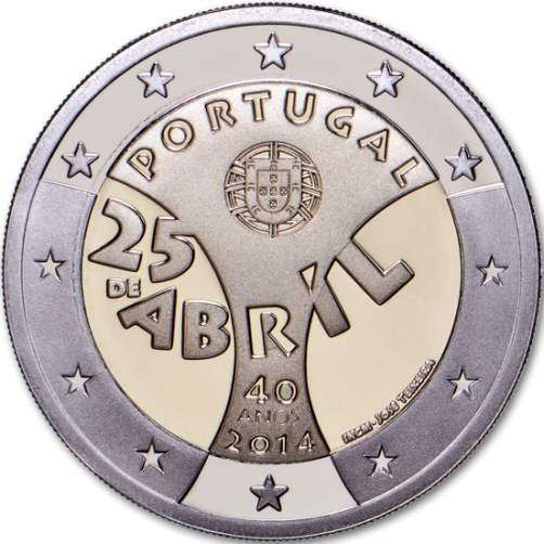 2 euro 2014 Portugalsko cc.PROOF 25 April