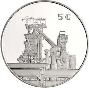 "5 euro 2014 Luxembursko PROOF ""STEEL"""