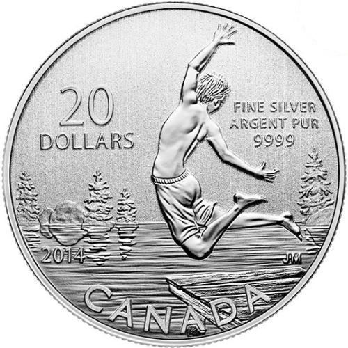 20 Dollars 2014 Kanada PROOF Sommer time