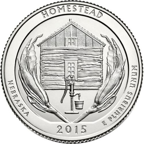 Quarter Dollar 2015 D USA UNC Homestead
