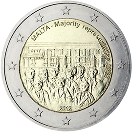 2 euro 2012 Malta cc.PROOF Majority Representation