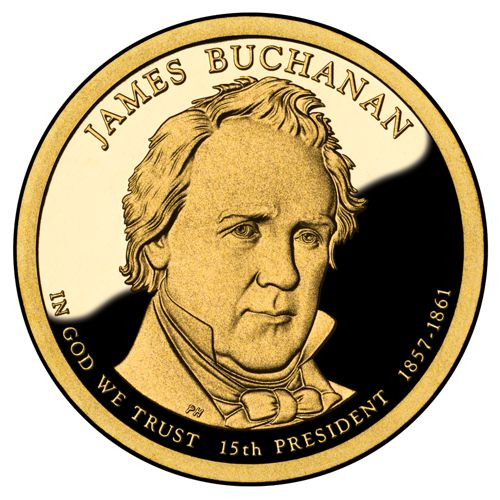 Dollar 2010 D USA UNC J.Buchanan 15th