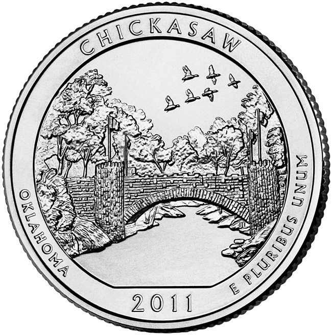 1/4 Dollar 2011 D USA Chickasaw
